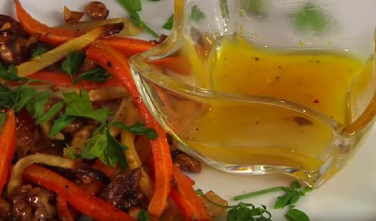 Narancsos diós sült zöldség