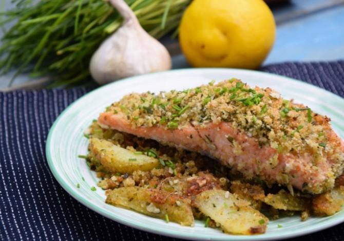 Mustáros zöldséges sült hal