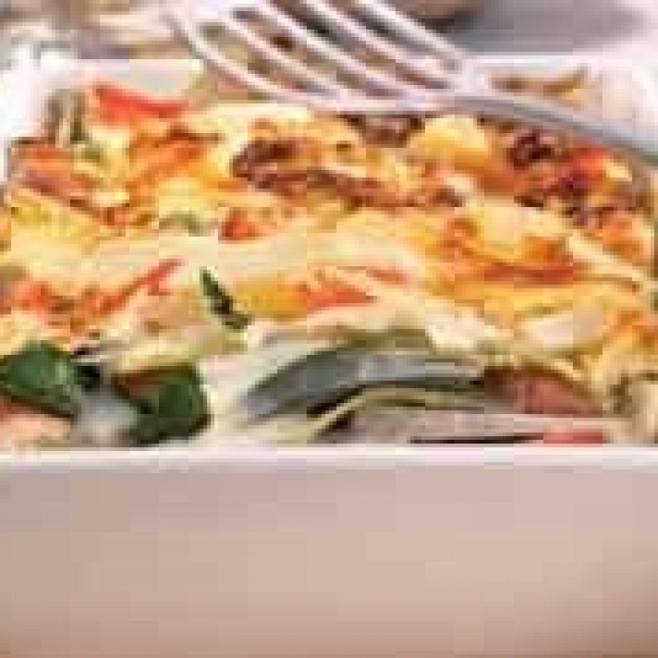 Lasagne karalábéval és mángolddal