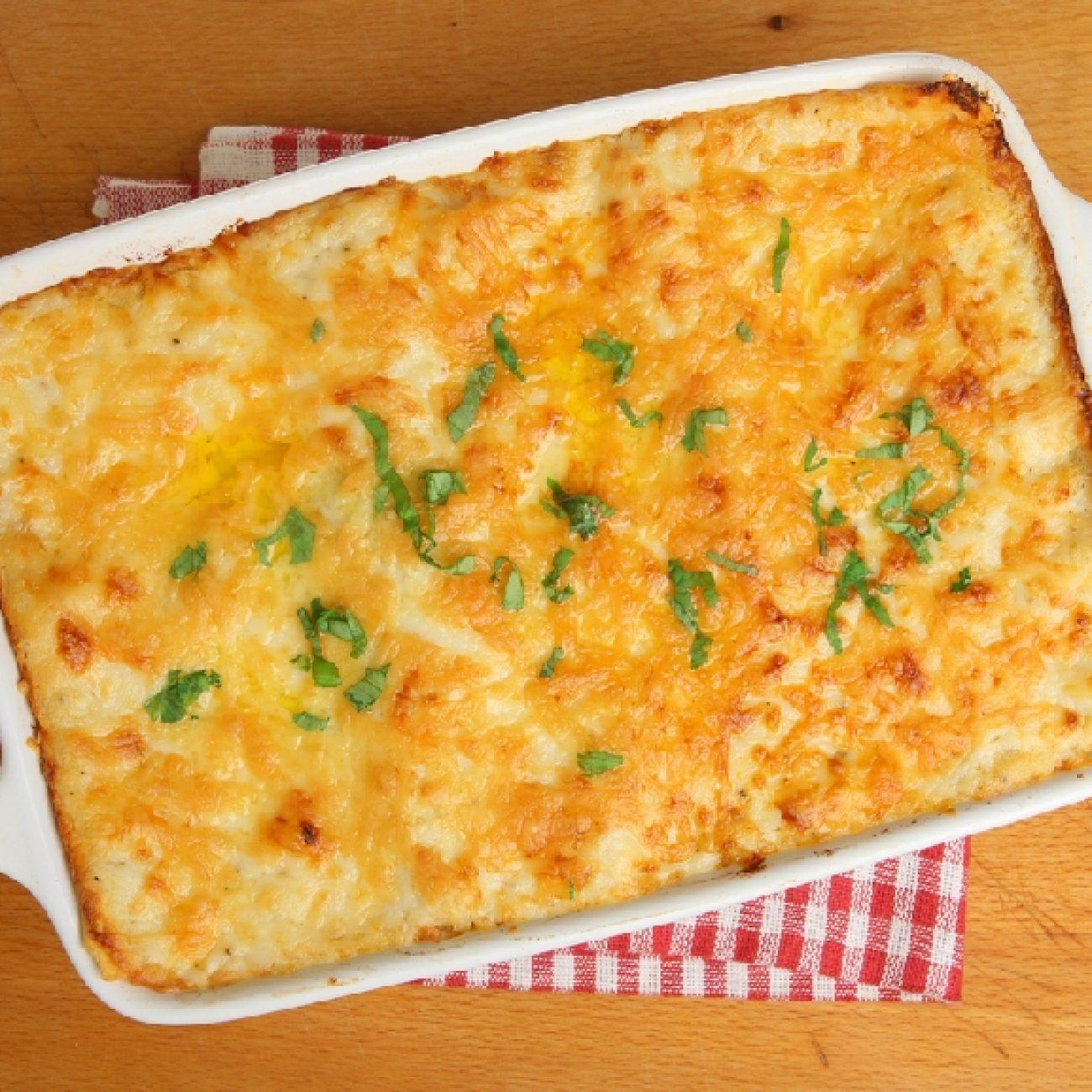 Krémes cukkinis lasagne